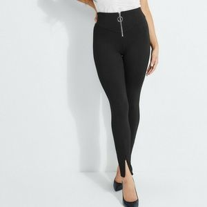Guess Kumiko Zip-front Pants High Rise Zip Cuffs